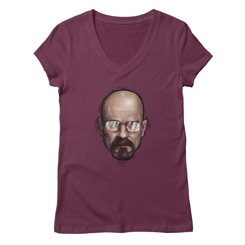 Heisenberg Women's V-Neck by zonnie's Shop