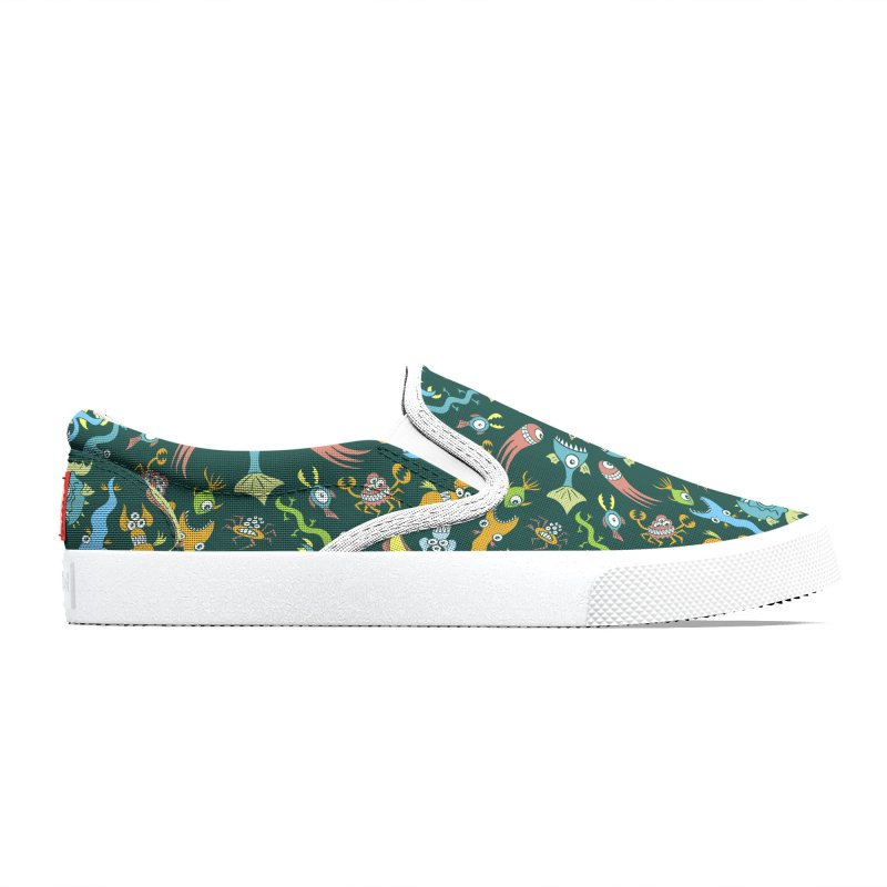 Weird sea animals devouring each other in a mandala pattern design Women's Shoes by Zoo&co's Artist Shop