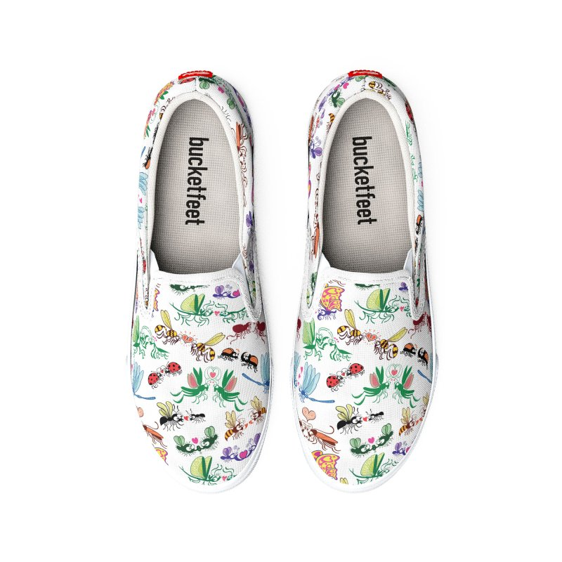 Funny insects falling in love in a pattern design Women's Shoes by Zoo&co's Artist Shop