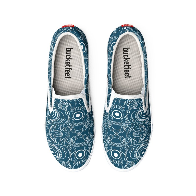 Pattern design full of deep ocean monsters in the form of doodling art Women's Shoes by Zoo&co's Artist Shop