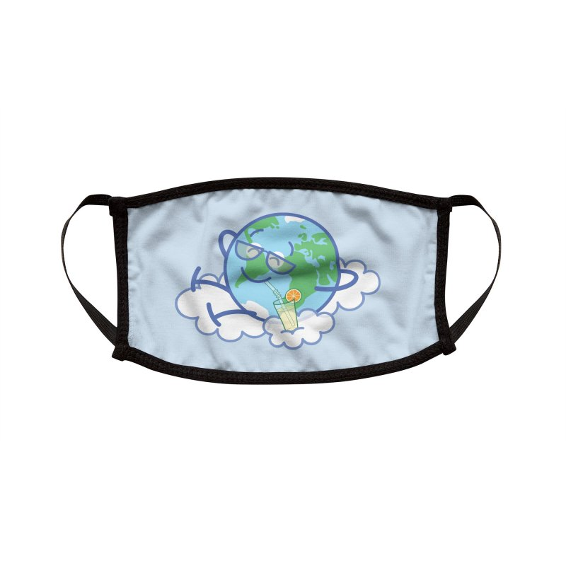 Cool planet Earth taking a well deserved break Accessories Face Mask by Zoo&co's Artist Shop