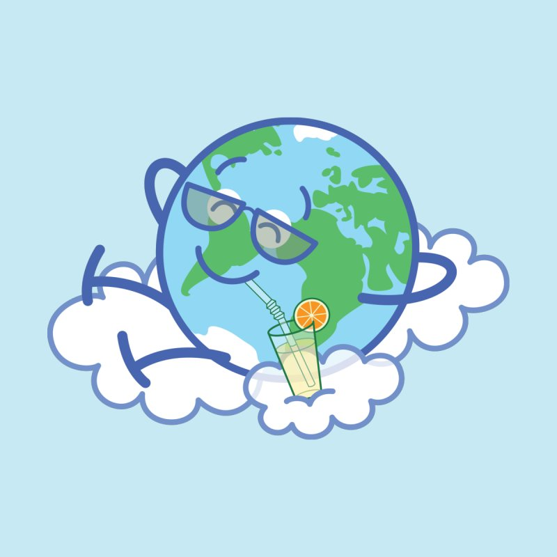 Cool planet Earth taking a well deserved break Accessories Sticker by Zoo&co's Artist Shop