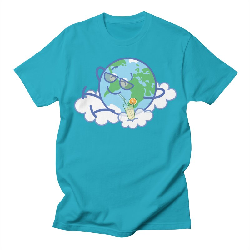 Cool planet Earth taking a well deserved break Men's T-Shirt by Zoo&co's Artist Shop