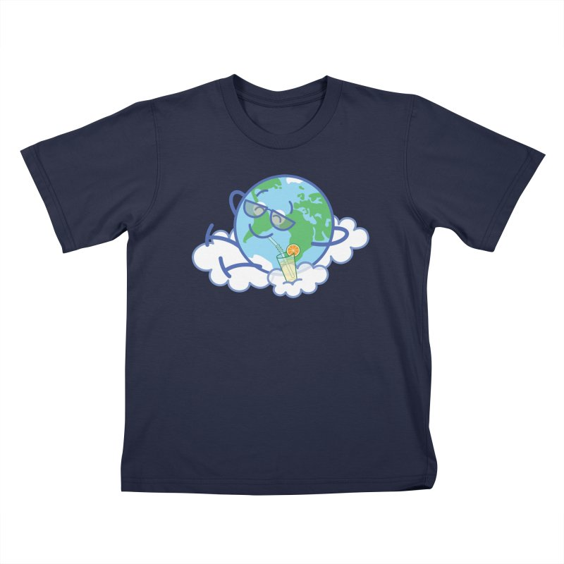 Cool planet Earth taking a well deserved break Kids T-Shirt by Zoo&co's Artist Shop