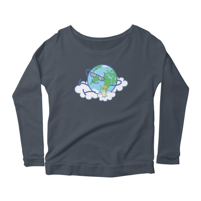 Cool planet Earth taking a well deserved break Women's Longsleeve T-Shirt by Zoo&co's Artist Shop
