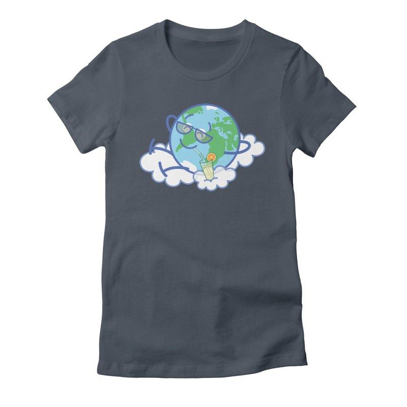 Cool planet Earth taking a well deserved break Women's T-Shirt by Zoo&co's Artist Shop