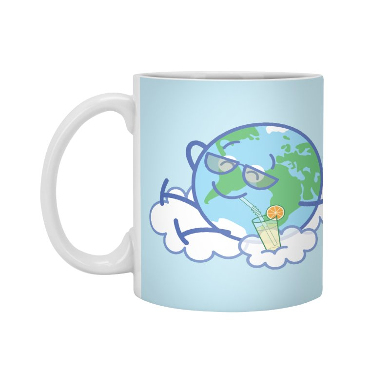 Cool planet Earth taking a well deserved break Accessories Mug by Zoo&co's Artist Shop