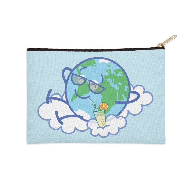 Cool planet Earth taking a well deserved break Accessories Zip Pouch by Zoo&co's Artist Shop