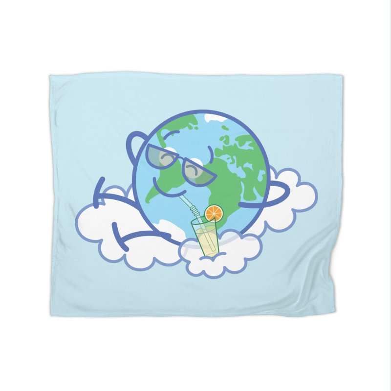 Cool planet Earth taking a well deserved break Home Blanket by Zoo&co's Artist Shop