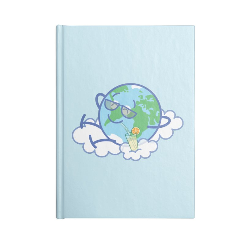 Cool planet Earth taking a well deserved break Accessories Notebook by Zoo&co's Artist Shop