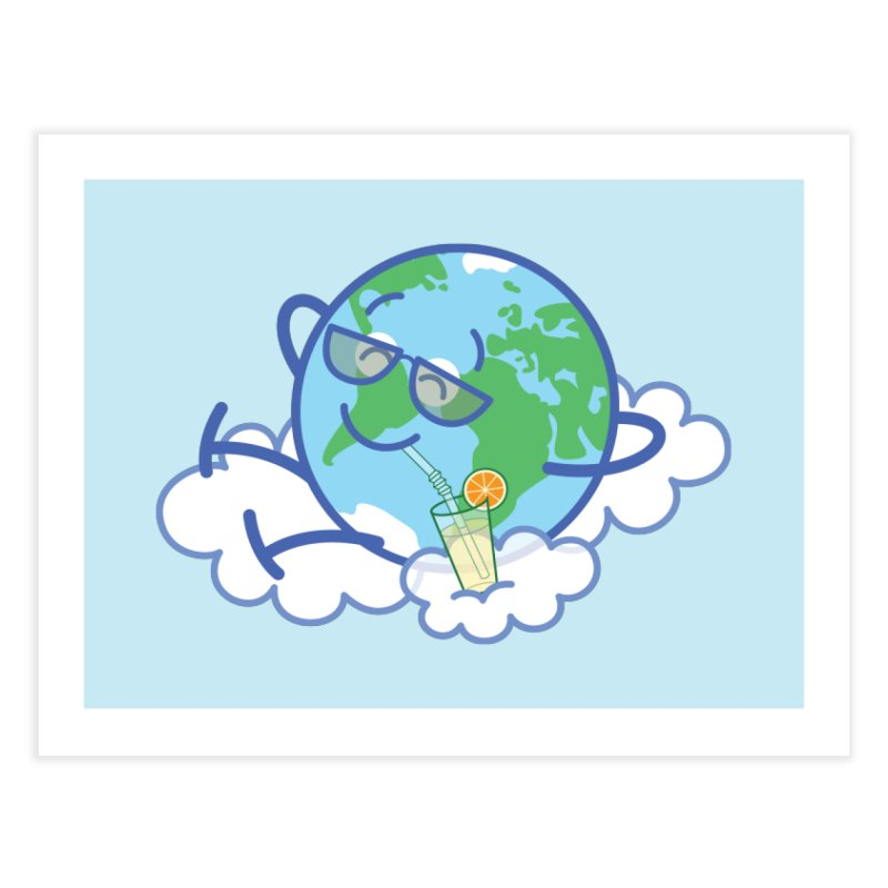 Cool planet Earth taking a well deserved break Home Fine Art Print by Zoo&co's Artist Shop
