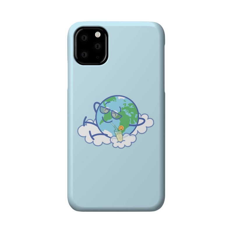 Cool planet Earth taking a well deserved break Accessories Phone Case by Zoo&co's Artist Shop