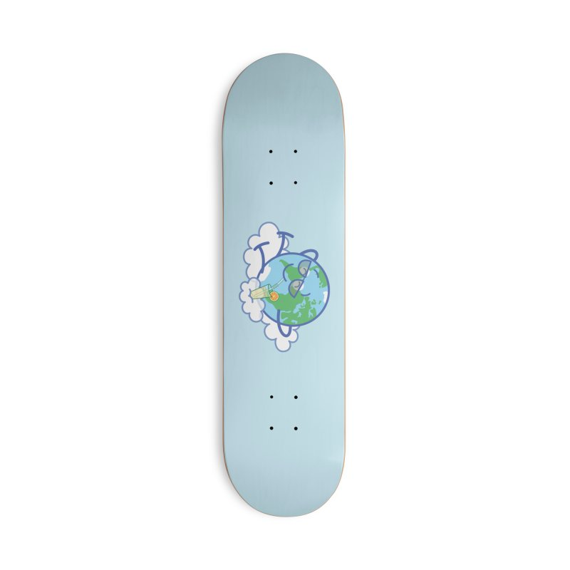 Cool planet Earth taking a well deserved break Accessories Skateboard by Zoo&co's Artist Shop