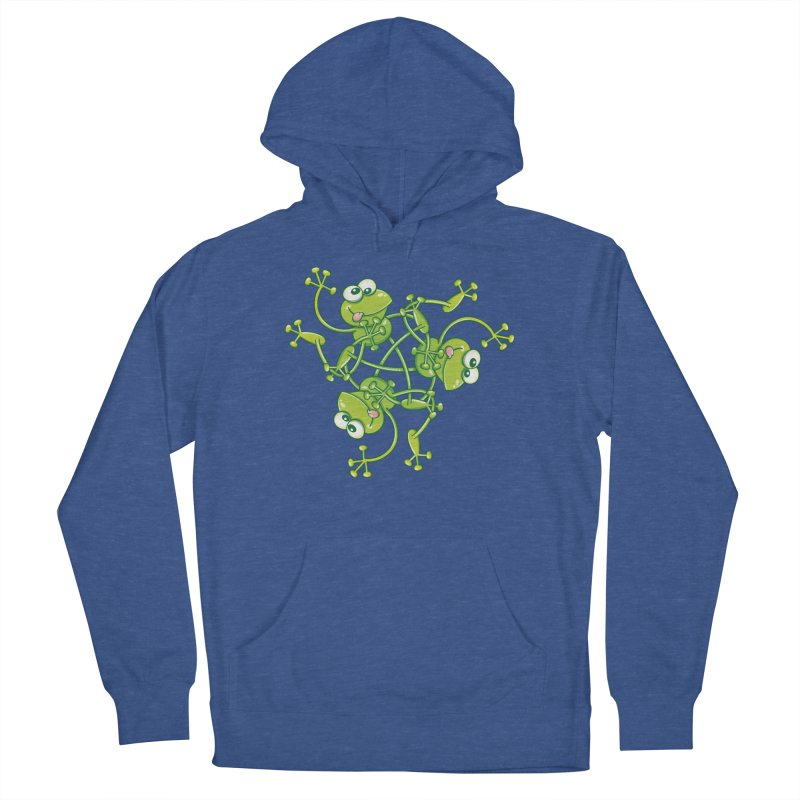 Green frogs waving and having fun while performing a cool choreography Women's Pullover Hoody by Zoo&co's Artist Shop
