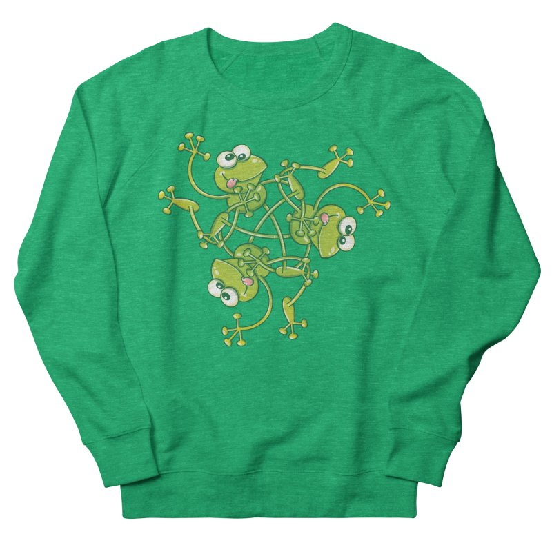 Green frogs waving and having fun while performing a cool choreography Women's Sweatshirt by Zoo&co's Artist Shop