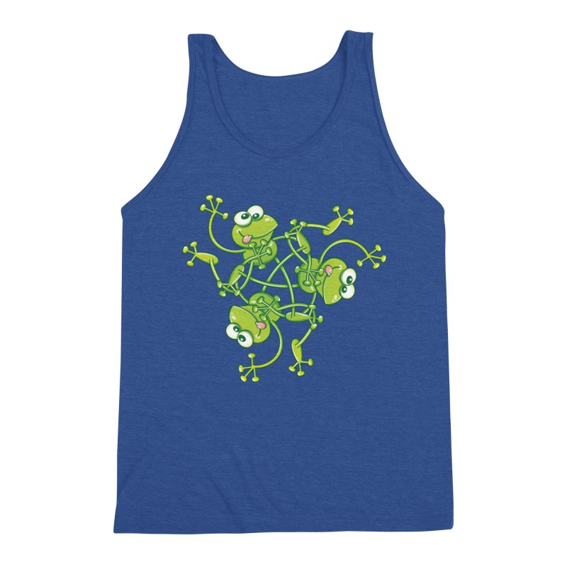 Green frogs waving and having fun while performing a cool choreography Men's Tank by Zoo&co's Artist Shop