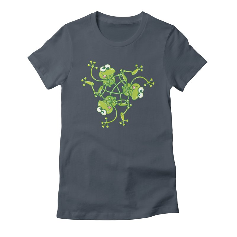Green frogs waving and having fun while performing a cool choreography Women's T-Shirt by Zoo&co's Artist Shop