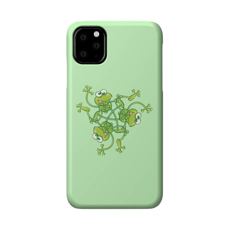 Green frogs waving and having fun while performing a cool choreography Accessories Phone Case by Zoo&co's Artist Shop
