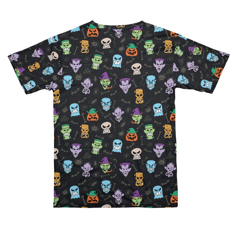 Halloween characters making funny faces in a cool pattern design Women's Cut & Sew by Zoo&co's Artist Shop