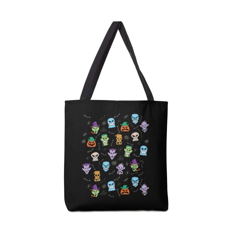 Halloween characters making funny faces in a cool pattern design Accessories Bag by Zoo&co's Artist Shop