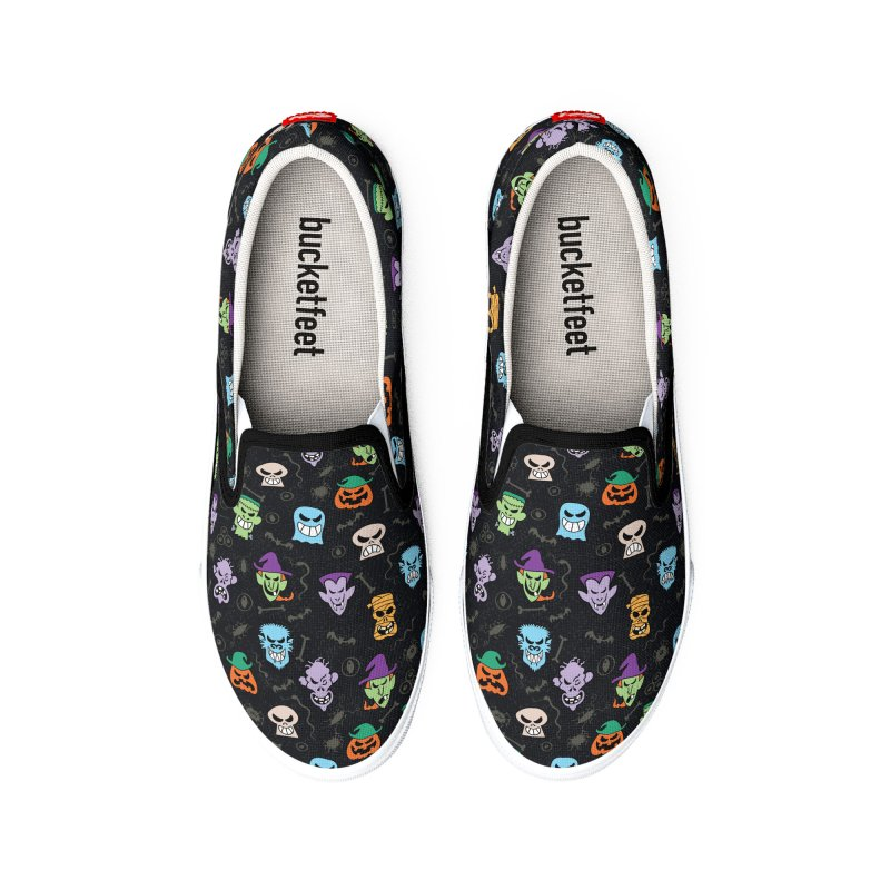 Halloween characters making funny faces in a cool pattern design Women's Shoes by Zoo&co's Artist Shop
