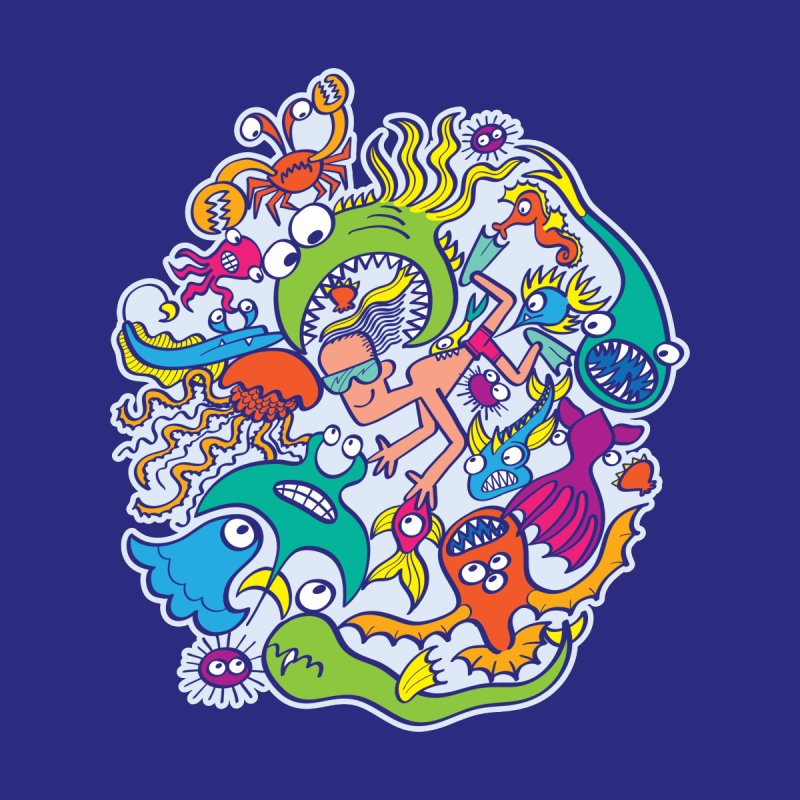 Strengthen friendship bond with dangerous sea creatures Accessories Button by Zoo&co's Artist Shop