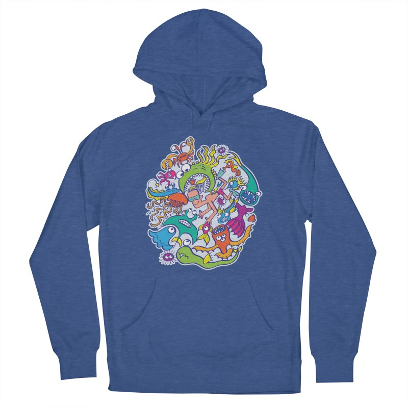 Strengthen friendship bond with dangerous sea creatures Women's Pullover Hoody by Zoo&co's Artist Shop