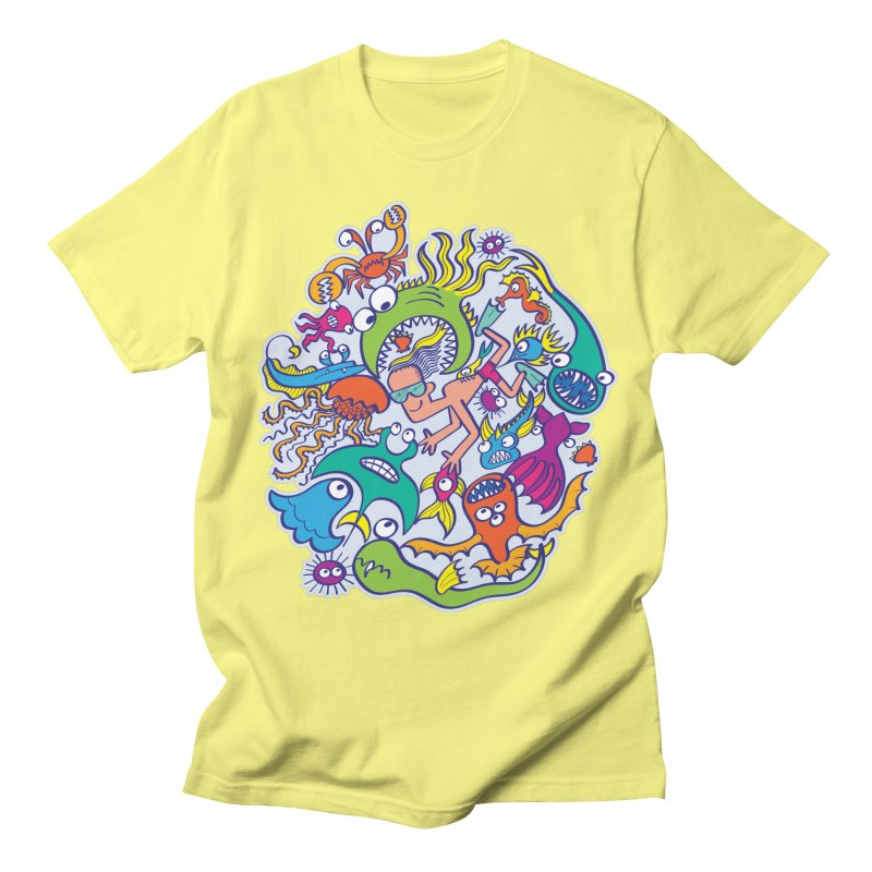 Strengthen friendship bond with dangerous sea creatures Men's T-Shirt by Zoo&co's Artist Shop