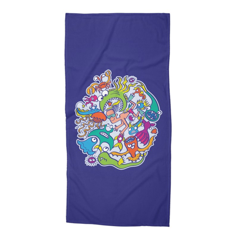 Strengthen friendship bond with dangerous sea creatures Accessories Beach Towel by Zoo&co's Artist Shop