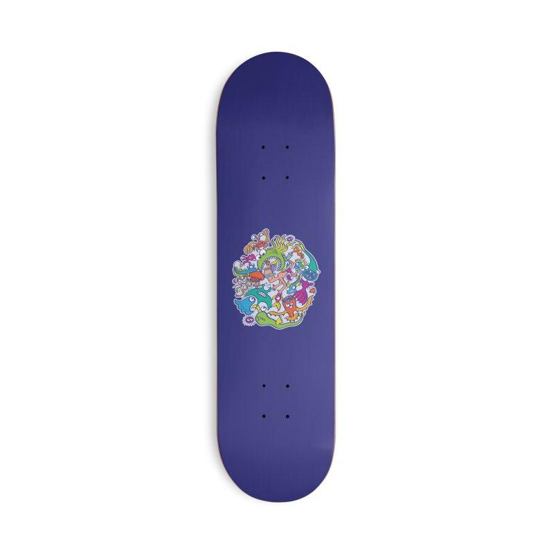 Strengthen friendship bond with dangerous sea creatures Accessories Skateboard by Zoo&co's Artist Shop