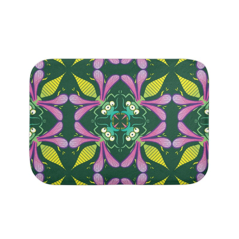 Luminescent insects having a meeting in the middle of the night Home Bath Mat by Zoo&co's Artist Shop