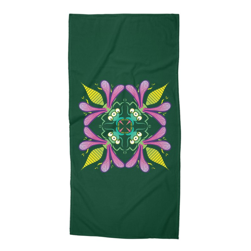 Luminescent insects having a meeting in the middle of the night Accessories Beach Towel by Zoo&co's Artist Shop