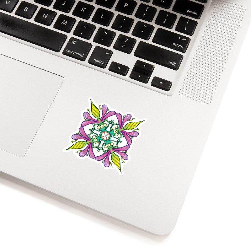 Luminescent insects having a meeting in the middle of the night Accessories Sticker by Zoo&co's Artist Shop