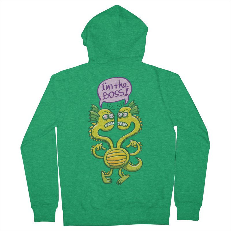 Two-headed monster struggling to define who the boss is Women's Zip-Up Hoody by Zoo&co's Artist Shop