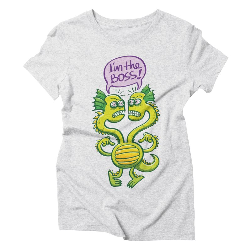 Two-headed monster struggling to define who the boss is Women's T-Shirt by Zoo&co's Artist Shop
