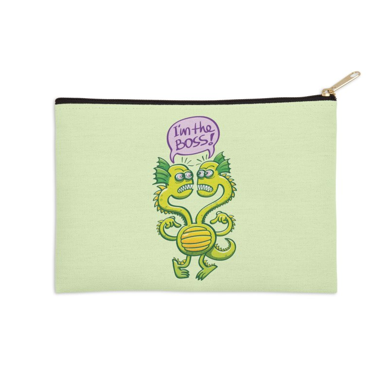 Two-headed monster struggling to define who the boss is Accessories Zip Pouch by Zoo&co's Artist Shop