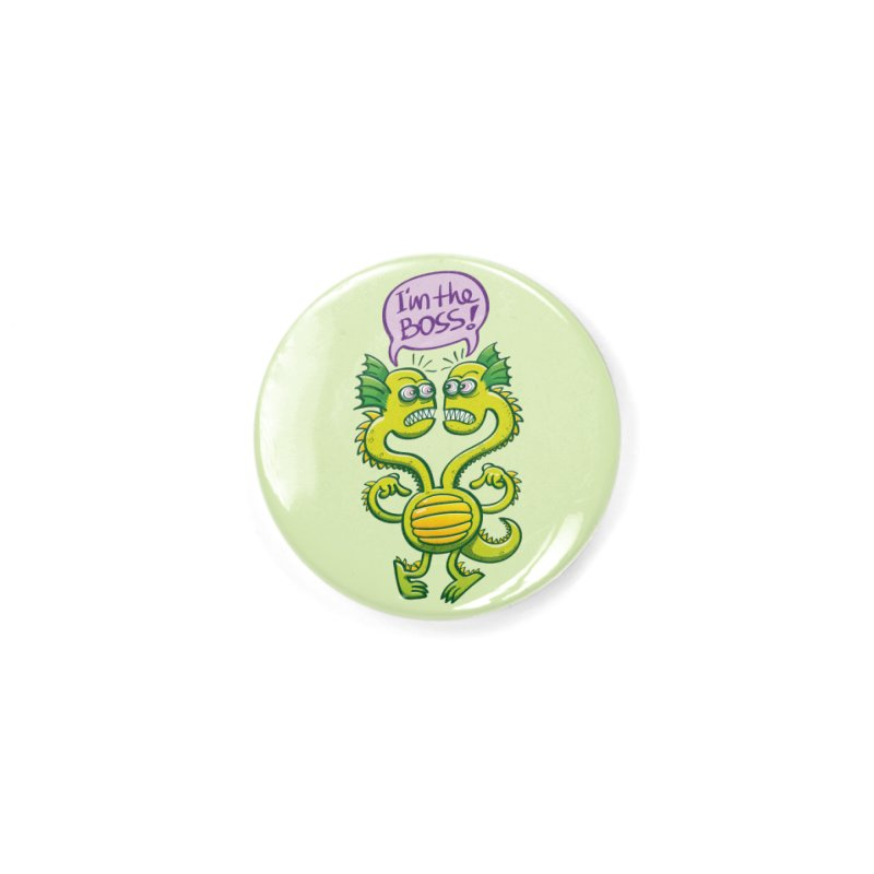 Two-headed monster struggling to define who the boss is Accessories Button by Zoo&co's Artist Shop