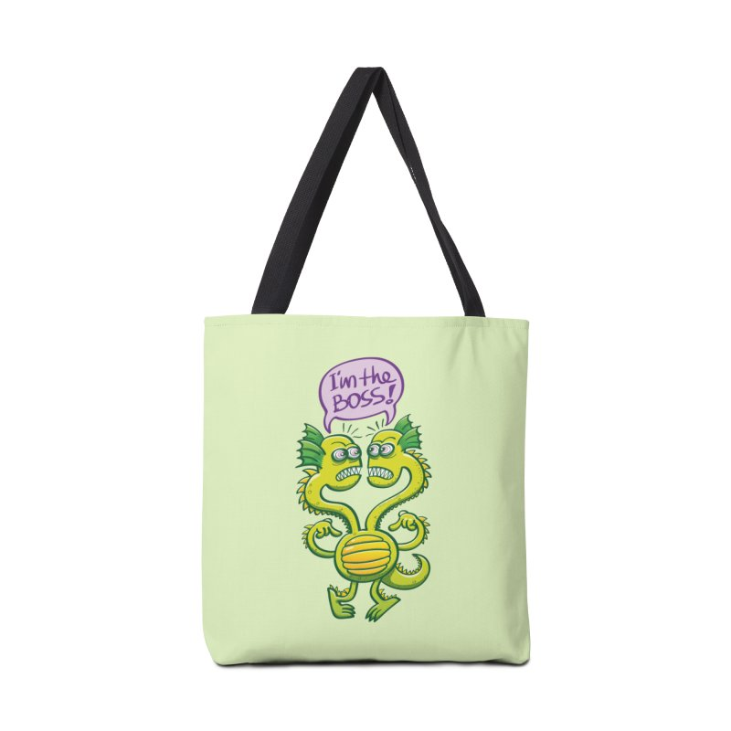 Two-headed monster struggling to define who the boss is Accessories Bag by Zoo&co's Artist Shop