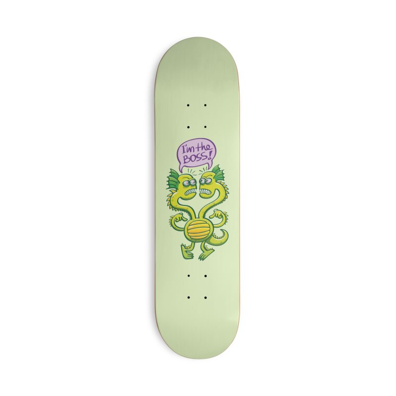 Two-headed monster struggling to define who the boss is Accessories Skateboard by Zoo&co's Artist Shop
