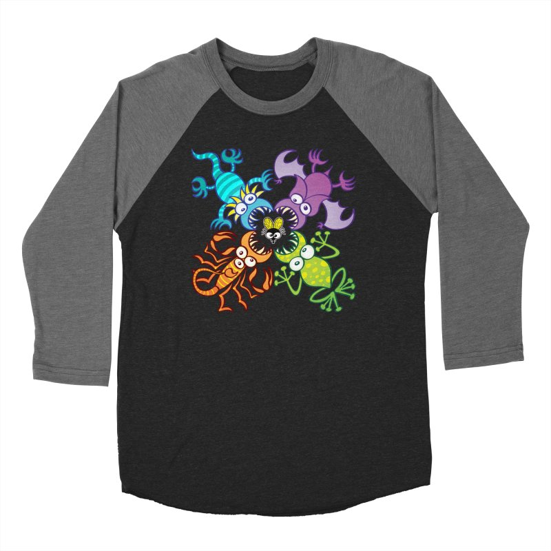 Bat, lizard, scorpion and frog attacking a defenseless fly Women's Longsleeve T-Shirt by Zoo&co's Artist Shop