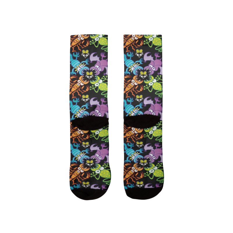 Bat, lizard, scorpion and frog attacking a defenseless fly Women's Socks by Zoo&co's Artist Shop
