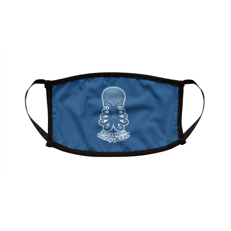 Mad octopus firmly warning you not to mess with its ocean Accessories Face Mask by Zoo&co's Artist Shop
