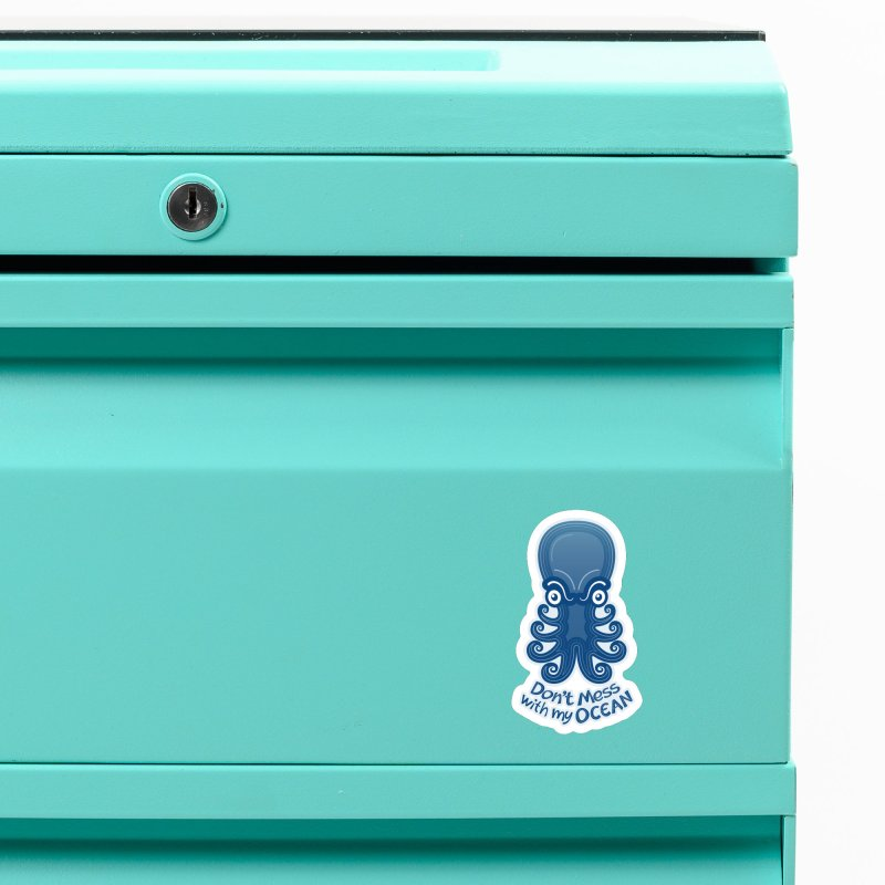Mad octopus firmly warning you not to mess with its ocean Accessories Magnet by Zoo&co's Artist Shop