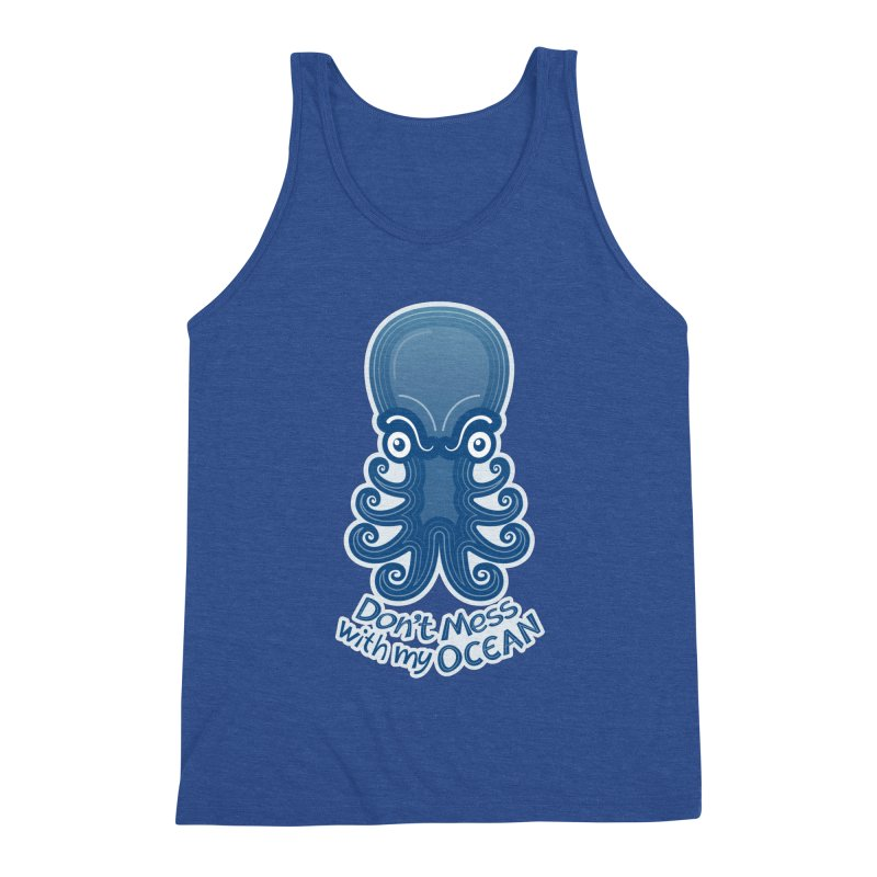 Mad octopus firmly warning you not to mess with its ocean Men's Tank by Zoo&co's Artist Shop