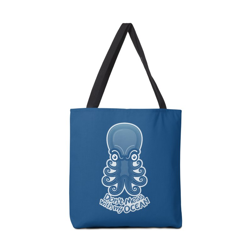 Mad octopus firmly warning you not to mess with its ocean Accessories Bag by Zoo&co's Artist Shop
