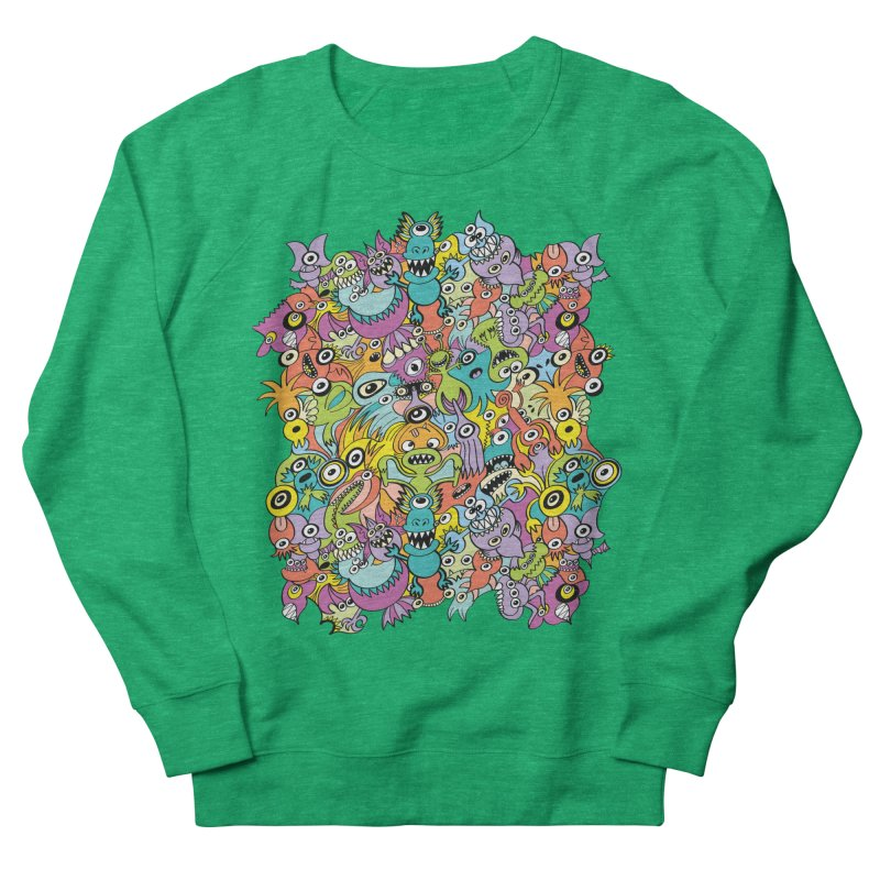 Aliens from every corner of the universe in an out of this world pattern design Women's Sweatshirt by Zoo&co's Artist Shop