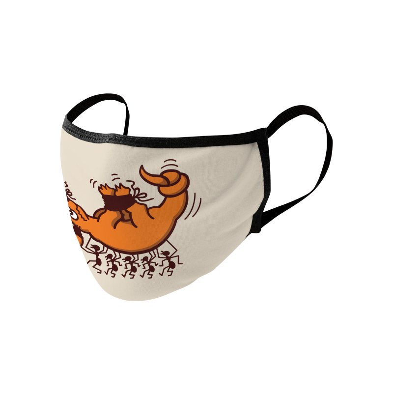 Aardvark in trouble when kidnapped by a group of bold ants Accessories Face Mask by Zoo&co's Artist Shop