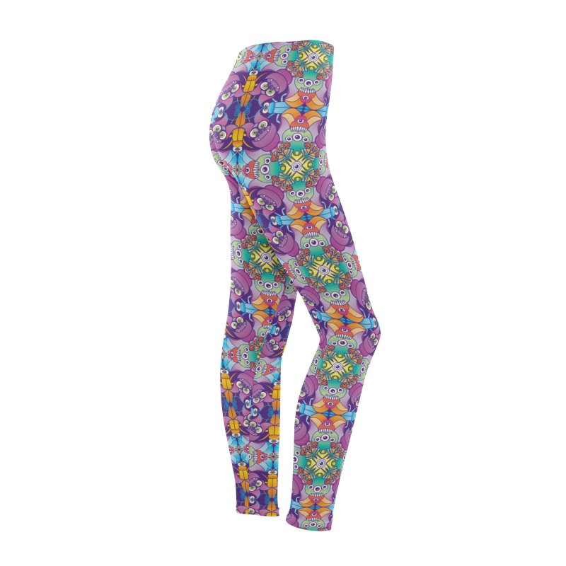 Spooky animals forming a colorful Halloween pattern Women's Bottoms by Zoo&co's Artist Shop