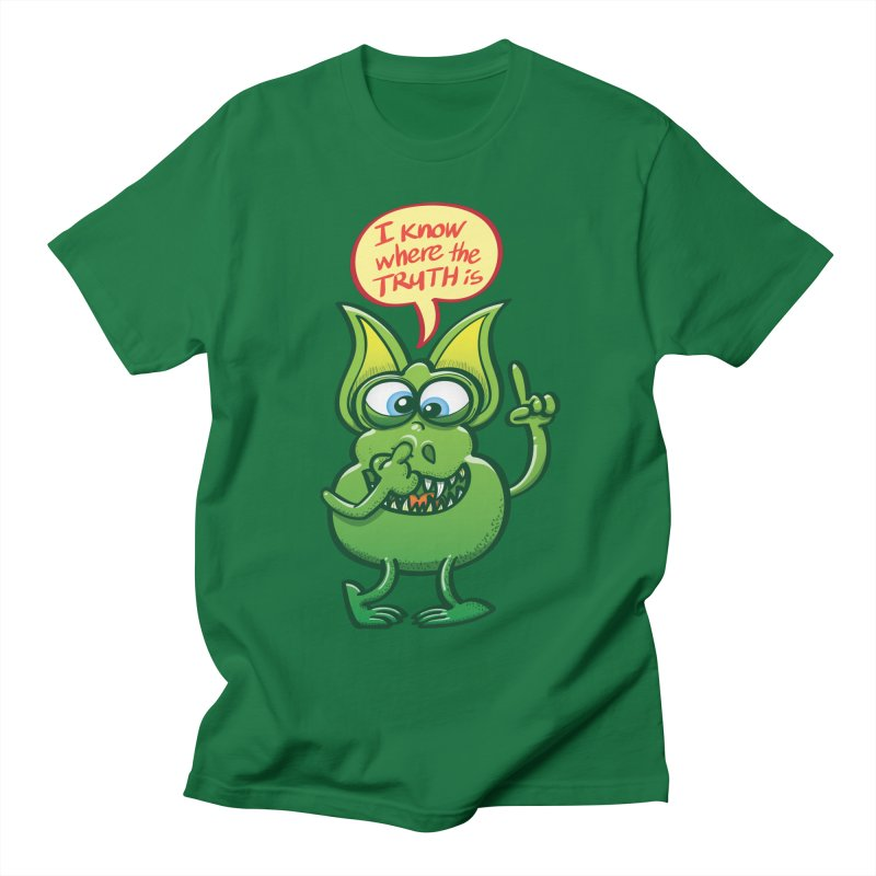 Cool alien revealing us where the truth is by picking his nose Men's T-Shirt by Zoo&co's Artist Shop