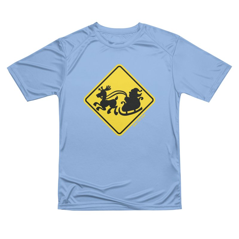 Warning Santa Claus on the road! Christmas is around the corner! Men's T-Shirt by Zoo&co's Artist Shop